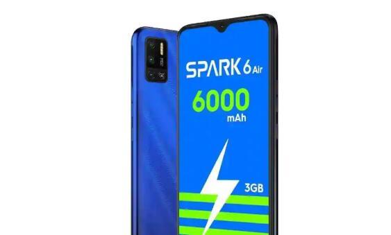Tecno Spark 6 Air在印度获得新的版本